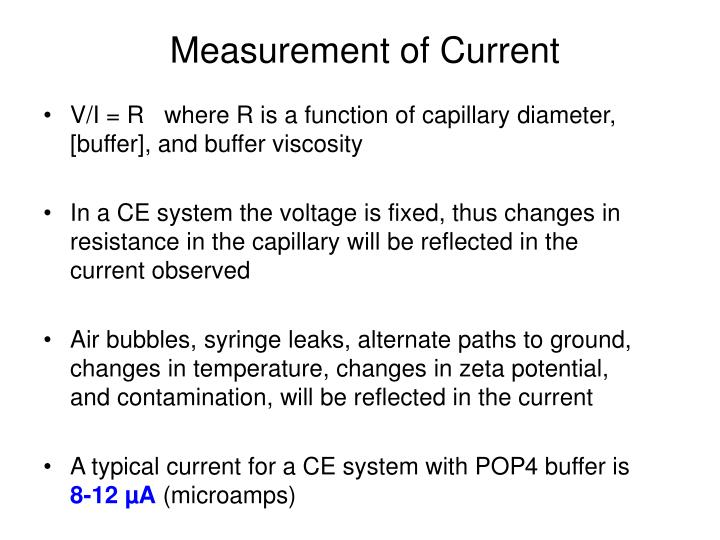 Measurement of Current