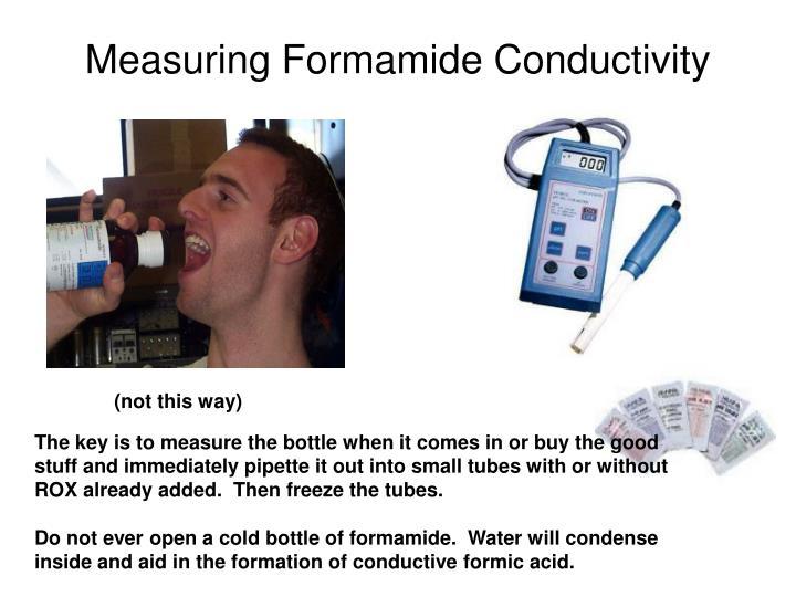 Measuring Formamide Conductivity