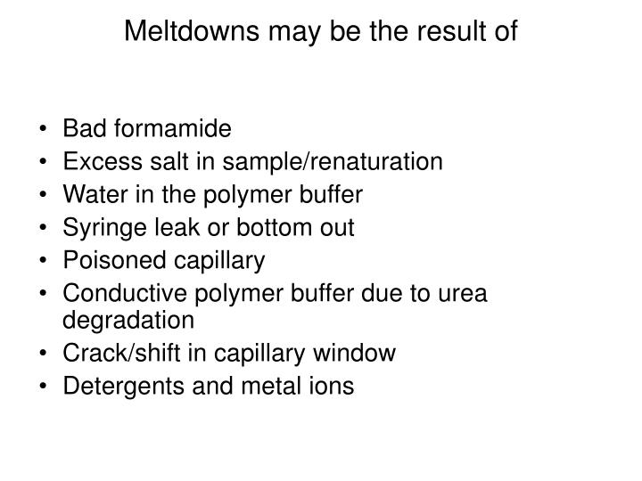 Meltdowns may be the result of