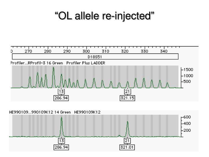 """OL allele re-injected"""