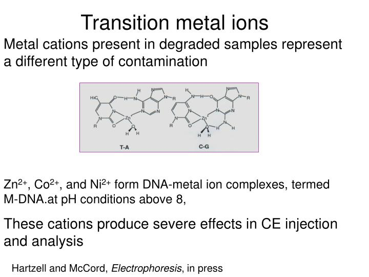 Transition metal ions