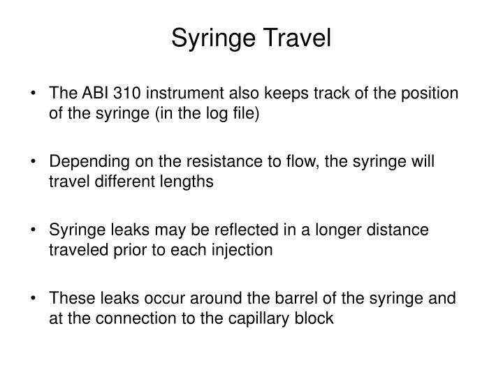 Syringe Travel