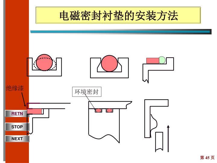 电磁密封衬垫的安装方法