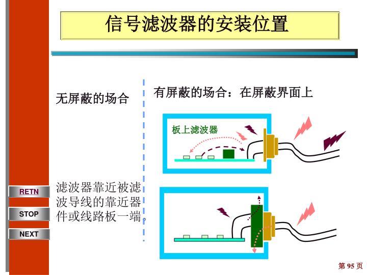 信号滤波器的安装位置
