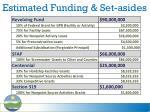 estimated funding set asides