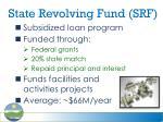 state revolving fund srf