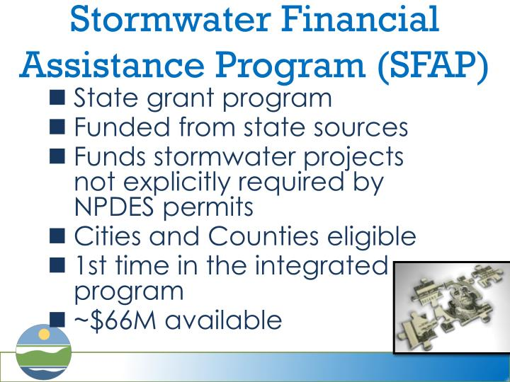 Stormwater Financial Assistance Program (SFAP)