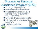 stormwater financial assistance program sfap