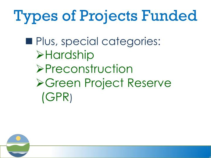 Types of Projects Funded