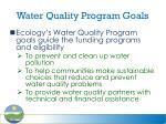 water quality program goals