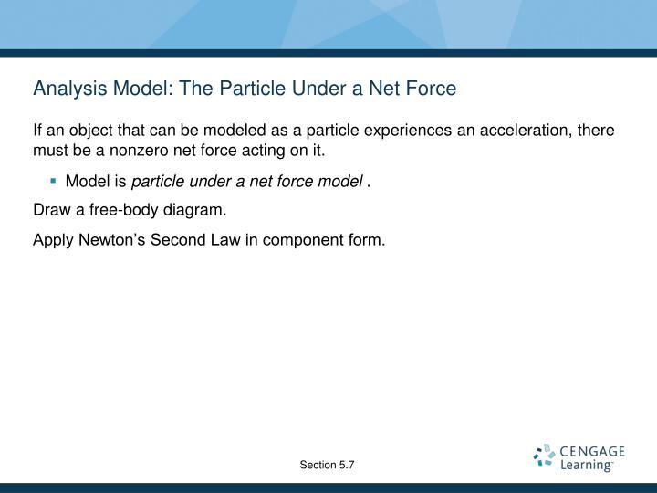 Analysis Model: The Particle Under a Net Force