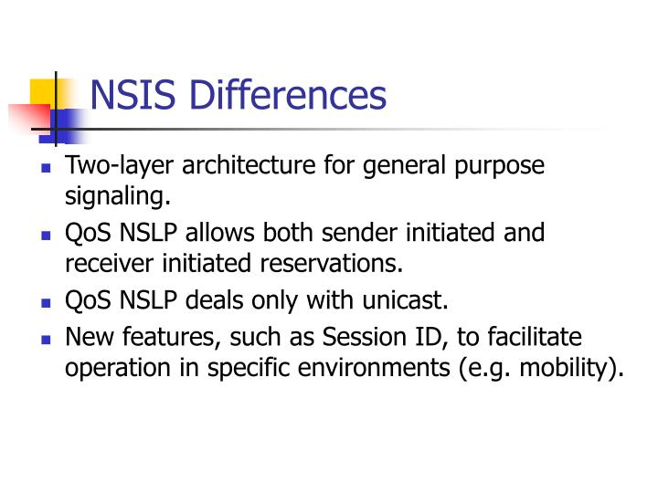 NSIS Differences