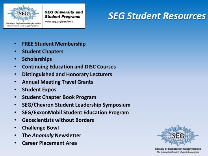 SEG Student Resources