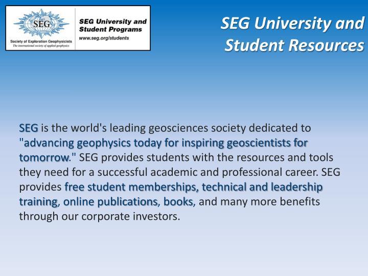 SEG University and