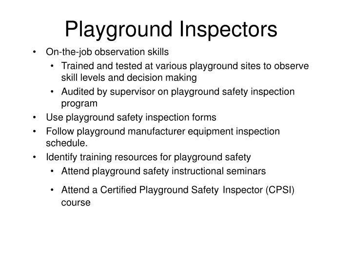 Playground Inspectors