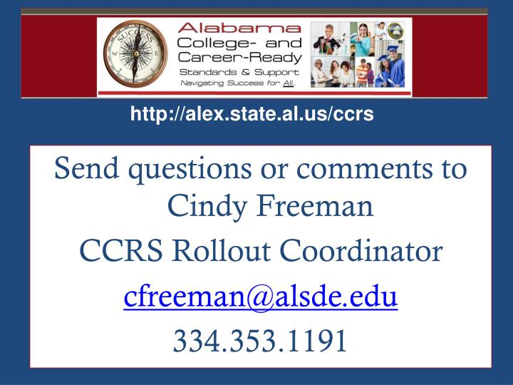Send questions or comments to Cindy Freeman
