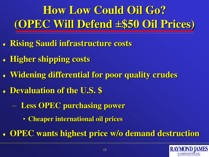 How Low Could Oil Go?