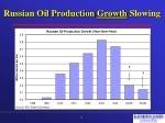 russian oil production growth slowing
