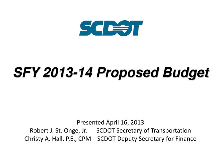 sfy 2013 14 proposed budget