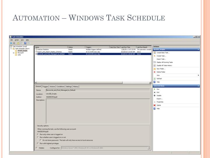 Automation – Windows Task Schedule