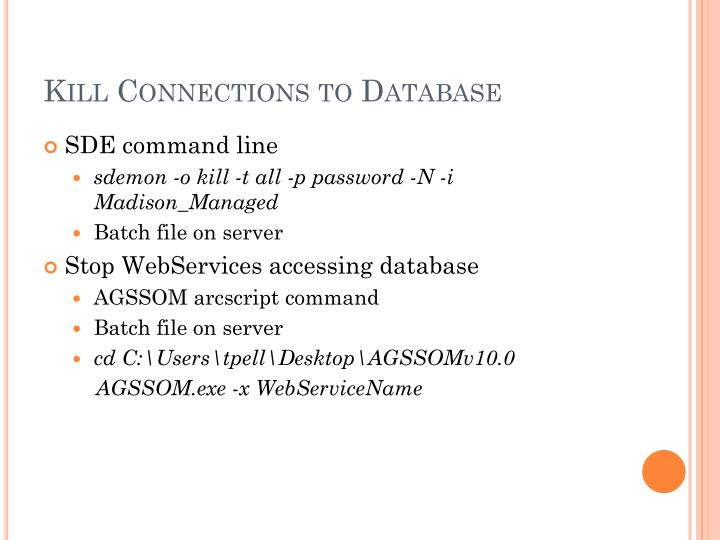 Kill Connections to Database