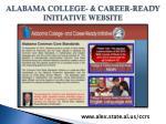 alabama college career ready initiative website
