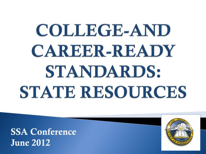 College and career ready standards state resources