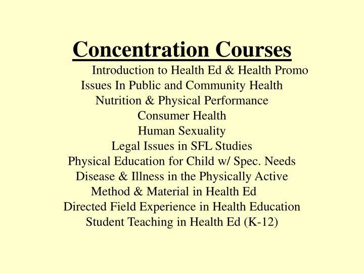 Concentration Courses