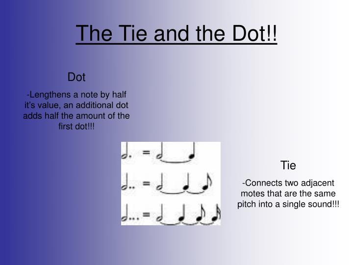 The Tie and the Dot!!