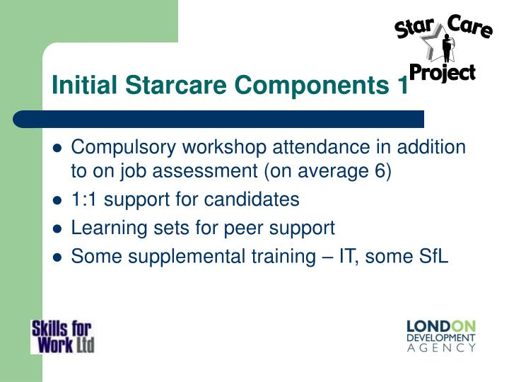 Initial Starcare Components 1