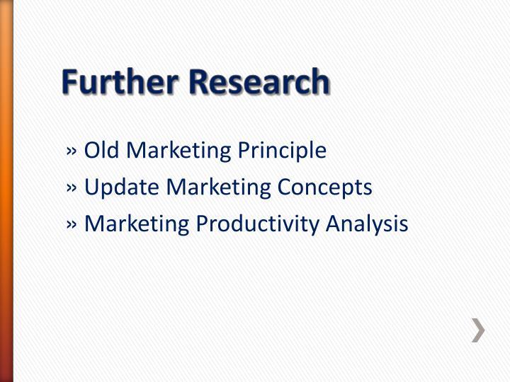 Old Marketing Principle