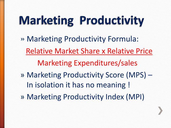 Marketing Productivity Formula: