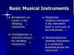 basic musical instruments