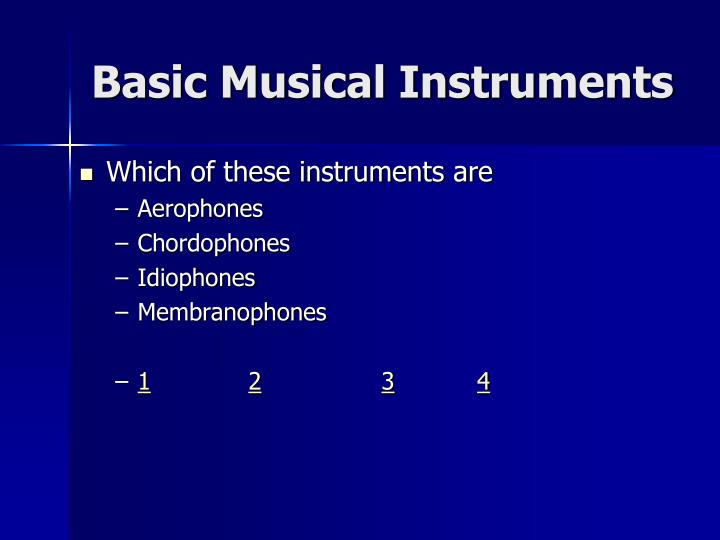 Basic Musical Instruments