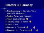 chapter 3 harmony