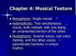 chapter 4 musical texture