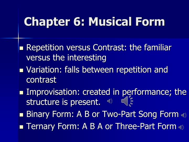 Chapter 6: Musical Form