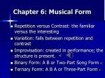 chapter 6 musical form