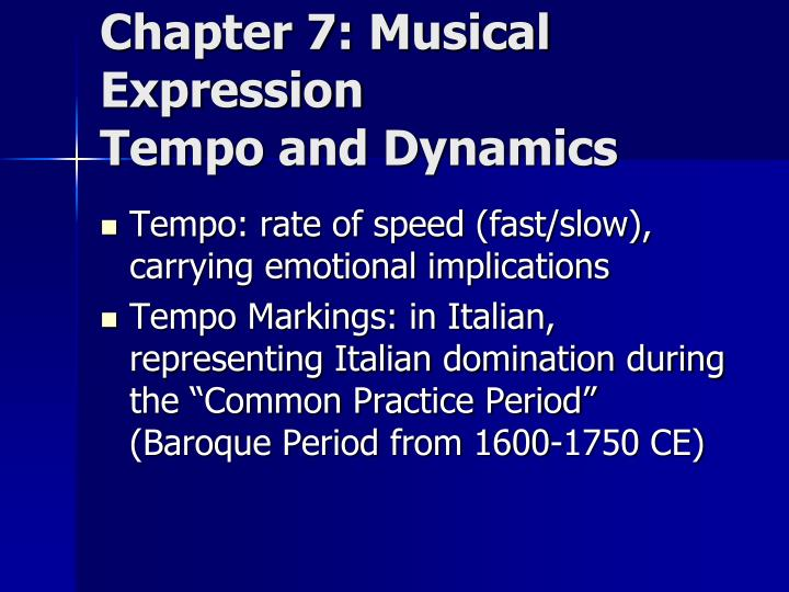 Chapter 7: Musical Expression
