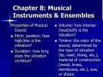 chapter 8 musical instruments ensembles