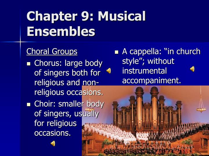 Chapter 9: Musical Ensembles