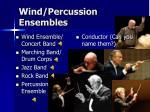 wind percussion ensembles