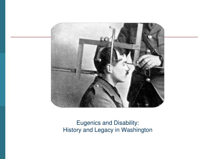 Eugenics and Disability: