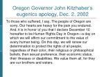 oregon governor john kitzhaber s apology in 2002