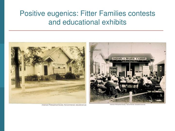 Positive eugenics: Fitter Families contests
