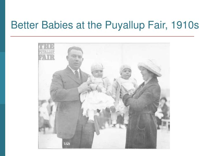 Better Babies at the Puyallup Fair, 1910s