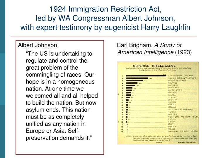1924 Immigration Restriction Act,
