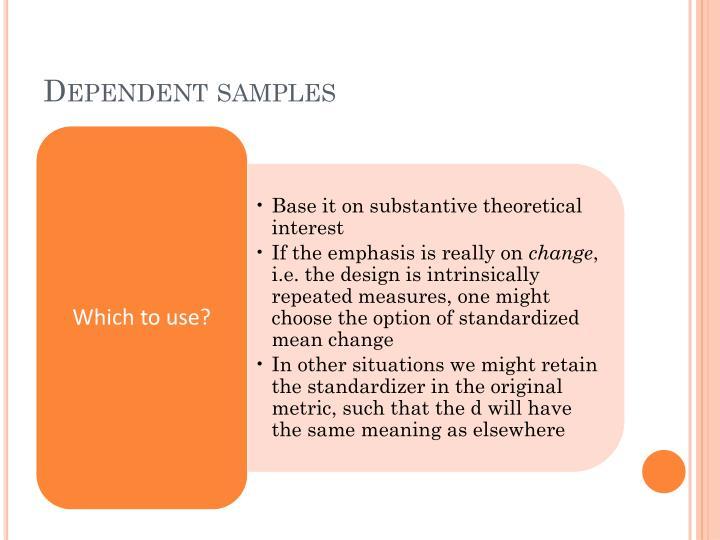 Dependent samples