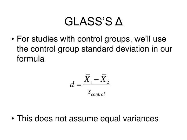 GLASS'S