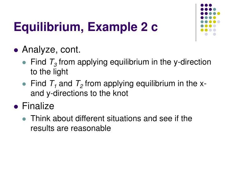 Equilibrium, Example 2 c